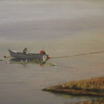 Setting on the Clyde, Oil on Canvas, 24 x 48 in. - Kris Taylor Art