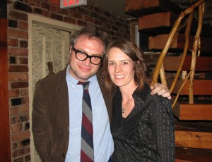 Steven Page with Melanie Taylor at Harmony House Theatre