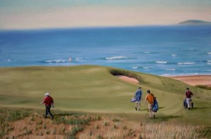 Cabot Links - Oil on Canvas, 24x36 inches - Kris Taylor Art