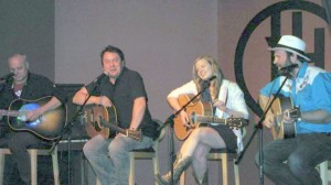Chas Guay, Gordie Sampson, Katie McGarry and Dennis Ellsworth at Harmony House Theatre
