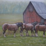 Horses in the Rain - Kris Taylor Art