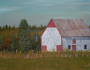 Old Barn in Mayfield, PEI - Oil on Canvas, 22x28 inches - Kris Taylor Art