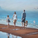 Walking on a PEI Beach - Kris Taylor Art